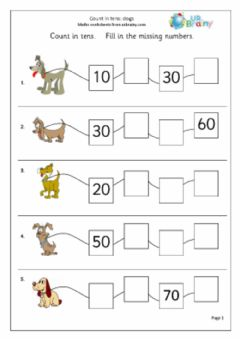 Ficha interactiva Counting on in 10s