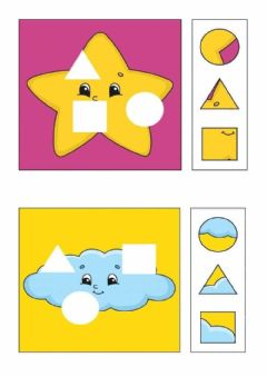 Interactive worksheet Puzzle forme geometriche