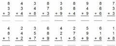 Interactive worksheet Addition of 3 Numbers
