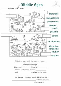 Interactive worksheet Middle ages