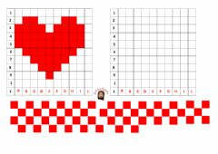 Interactive worksheet pixel art- cuore