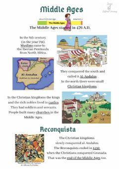 Interactive worksheet The Middle ages