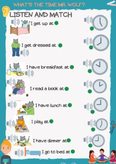 Interactive worksheet Listening and reading mr wolf