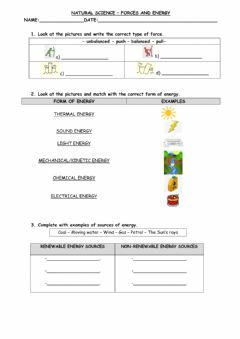 Interactive worksheet Forces