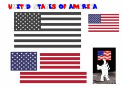 Ficha interactiva USA flag