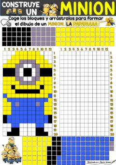 Interactive worksheet Dibuja y construye un Minion