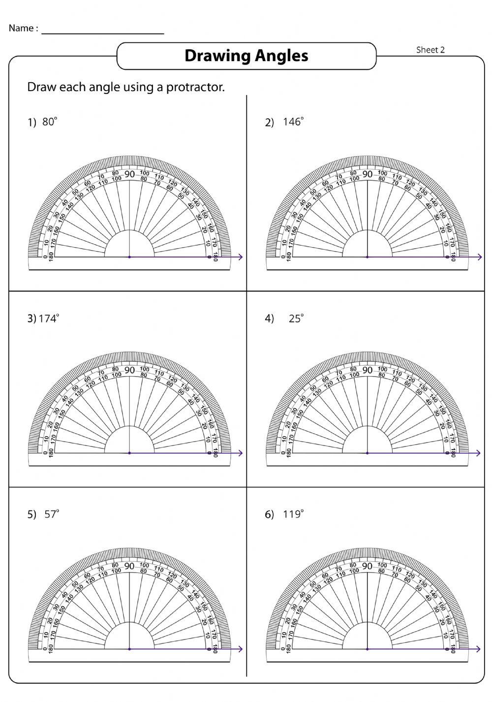 Draw angles   02 worksheet