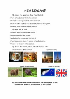 Interactive worksheet New Zealand