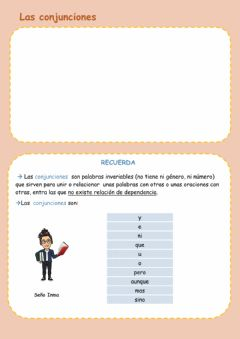 Interactive worksheet Conjunciones