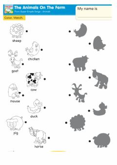 Interactive worksheet The animals on the farm