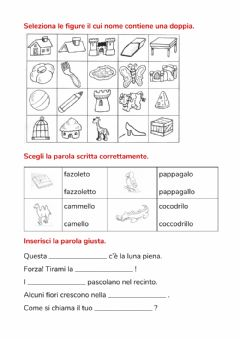 Interactive worksheet Doppie in gioco