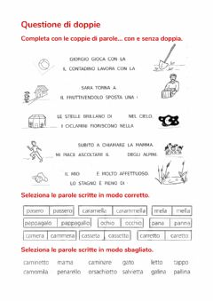 Interactive worksheet Questione di doppie
