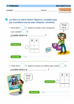 Interactive worksheet Matemáticas - Ficha 50