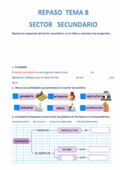 Interactive worksheet Sector secundario