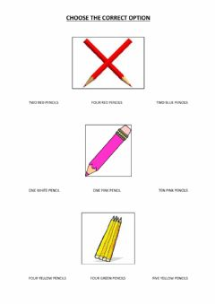Interactive worksheet Numbers - colours