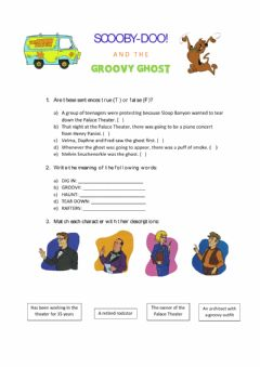Ficha interactiva Scooby Doo and The Groovy Ghost