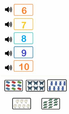 Interactive worksheet From 6 to 10