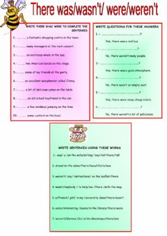 Interactive worksheet There was