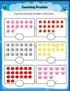 Interactive worksheet Counting numbers one to one corresponding