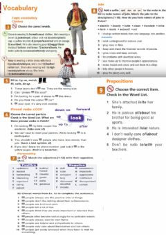 Interactive worksheet Topic vocabulary - clothes-personality-jobs