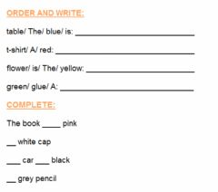 Interactive worksheet Describing the colour of things