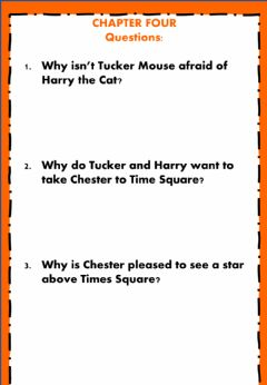 Interactive worksheet The Cricket in Time Square - Week 16 - Monday