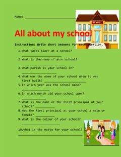 Interactive worksheet How do i know my school?
