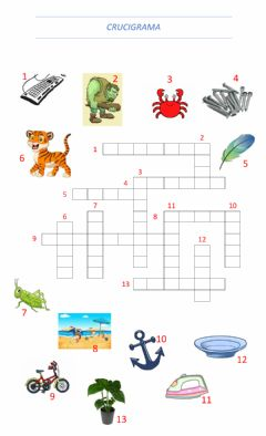 Interactive worksheet Crucigrama -1 DE JUNIO