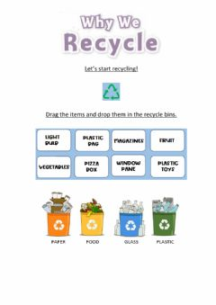 Interactive worksheet Why We Recycle?