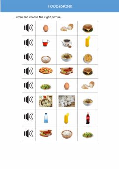 Interactive worksheet Food&drink