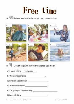 Interactive worksheet free time-venture1-sb-u10