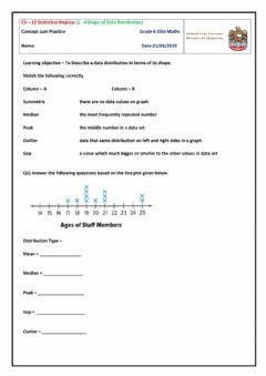 Interactive worksheet Shape of Data Distribution