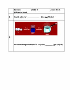 Interactive worksheet Heat -1