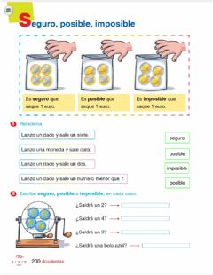 Interactive worksheet Mates 1-12 junio p7-8 Seguro posible imposible