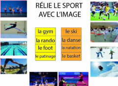Interactive worksheet Les sports