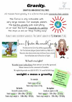 Interactive worksheet Gravity and weight