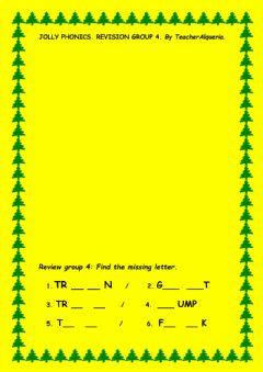 Interactive worksheet Jolly phonics group 4