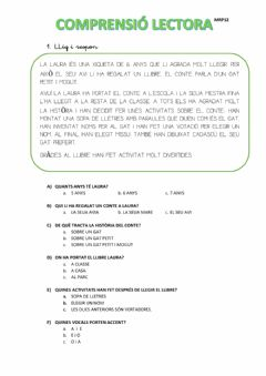 Interactive worksheet Lectura comprensi
