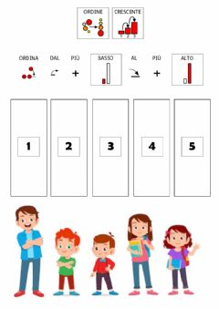 Interactive worksheet ALTO - BASSO in CAA (ordine crescente)