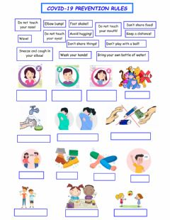 Interactive worksheet Covid 19 Prevention Rules