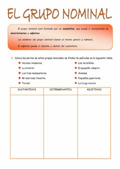 Interactive worksheet El grupo nominal