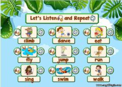 Interactive worksheet 2.10. Animals - Let's Listen and Repeat 2