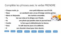 Interactive worksheet Verbe Prendre