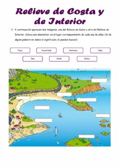 Interactive worksheet Relieve de costa y de interior