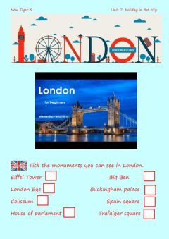 Interactive worksheet London