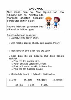 Interactive worksheet LAGUNAK