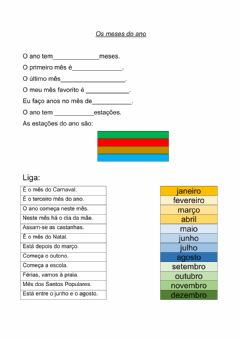 Interactive worksheet Os meses do ano