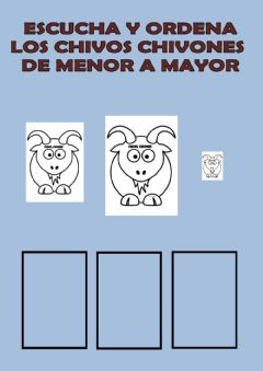 Interactive worksheet Ordena los chivos chivones de menor a mayor