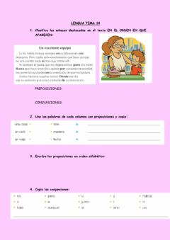 Interactive worksheet Ficha lengua tema 14