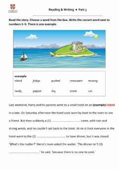 Interactive worksheet FLYERS reading and writing part 3